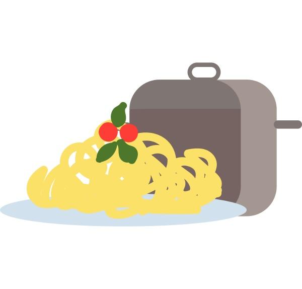 spaghetti hand drawn design illustration vector
