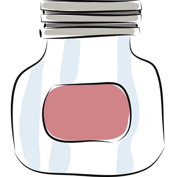 jar hand drawn design illustration vector
