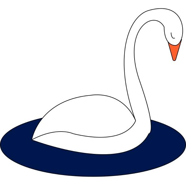 swan hand drawn design illustration vector