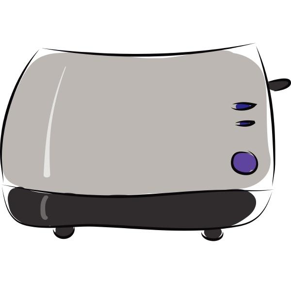 toaster hand drawn design illustration vector