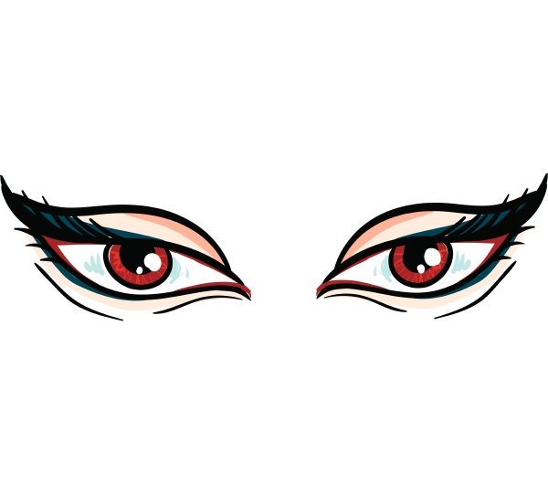 vampire eyes hand drawn design illustration