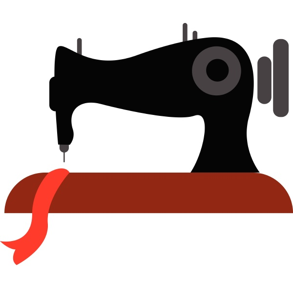 clipart of the sewing machine vector
