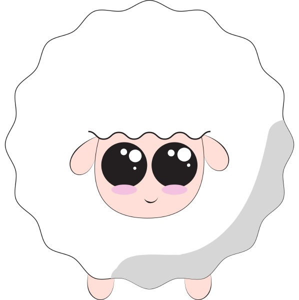 sheep vector or color illustration