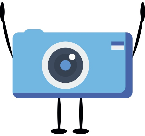 blue, camera, , illustration, , vector, on, white - 27514741