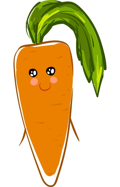 a cute carrot vector or color