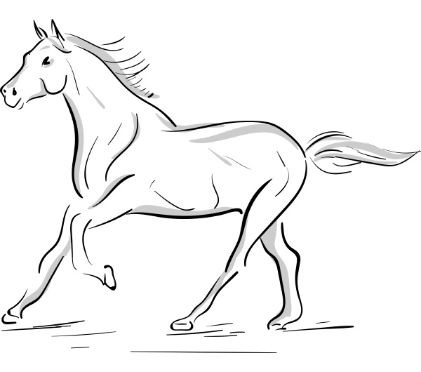 a running horse silhouette vector or