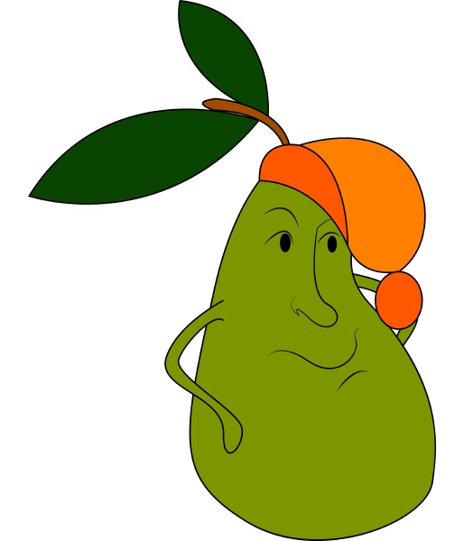 a yellow pear vector or color