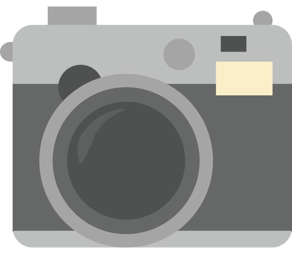 photo camera illustration vector on white