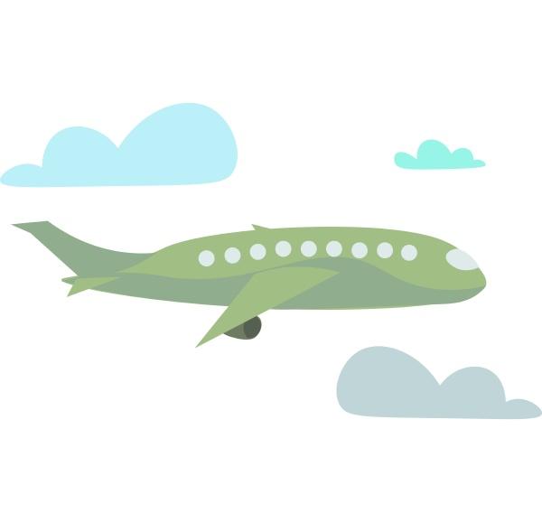 plane vector or color illustration