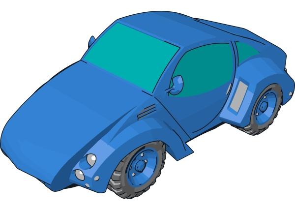 cool blue car illustration vector on