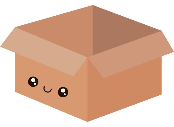 carton box illustration vector on white