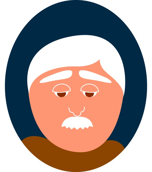 old man with mustache illustration