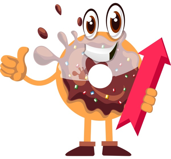 donut with arrow sign illustration vector