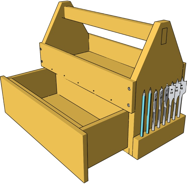 yellow tool box illustration