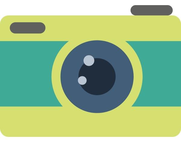 camera illustration vector on white background