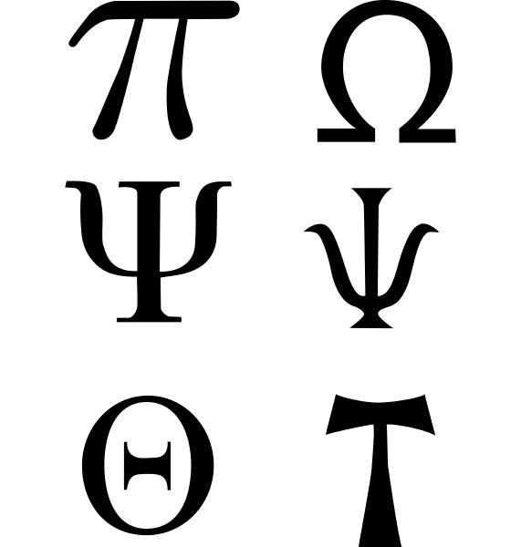greek signs and symbols