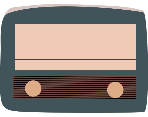 old radio illustration vector on white