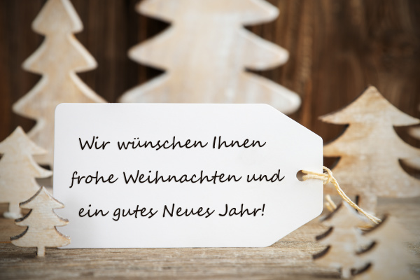 christmas tree label gutes neues means