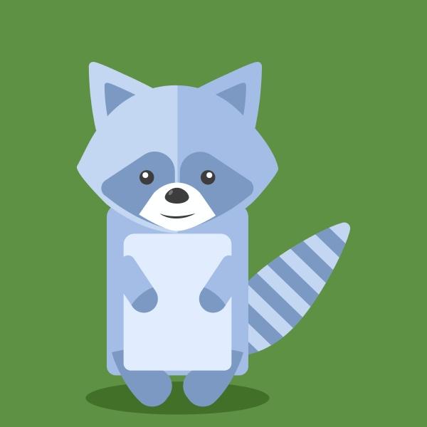raccoon illustration vector on