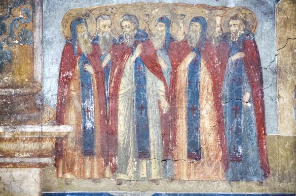 fresco in the church of st