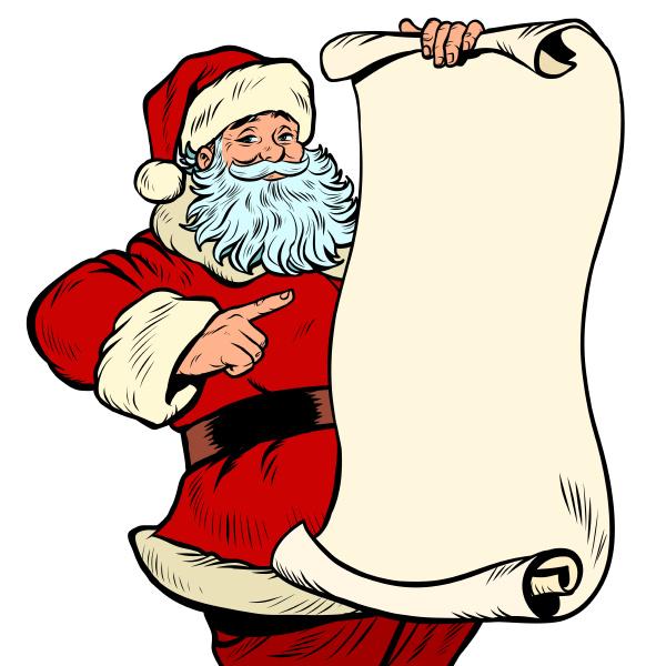 santa claus character christmas and new