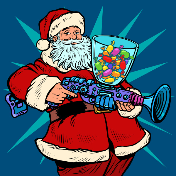 santa claus candy machine christmas and