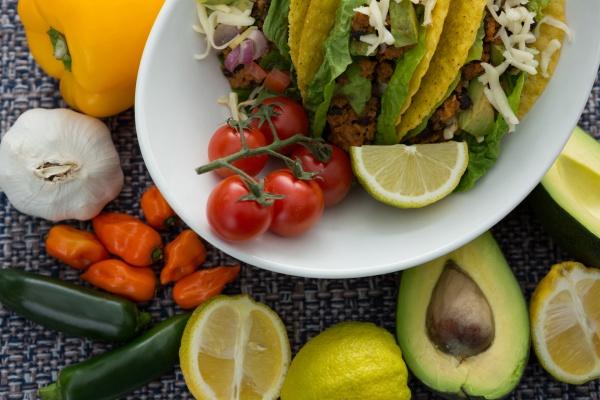 various mexican food ingredients