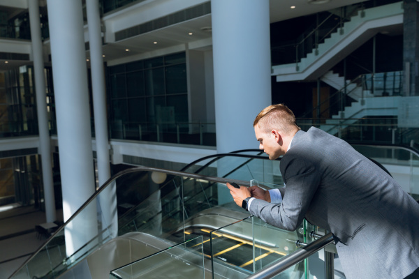 businessman using mobile phone in the