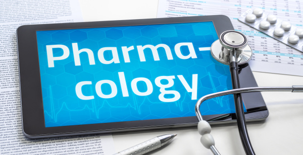 the word pharmacology on the display