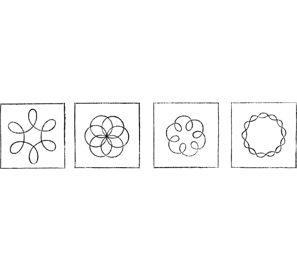different figures obtained with the kaleidophone