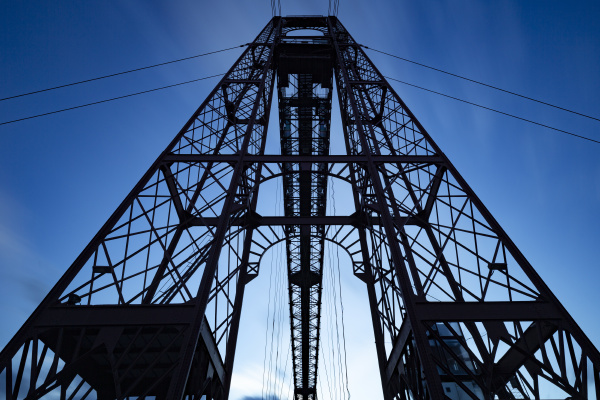 historic bizkaia bridge between portugalete and