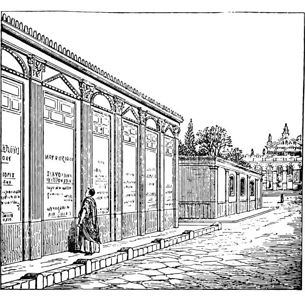 showing ads in pompeii vintage