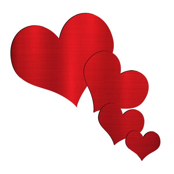 big hearts flying valentine day