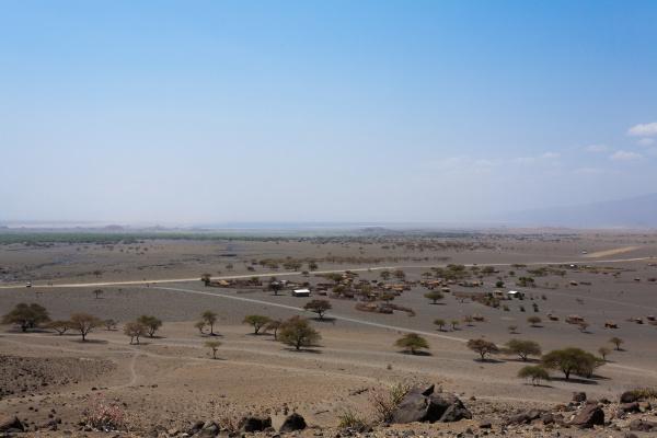 lake natron area landscape tanzania africa