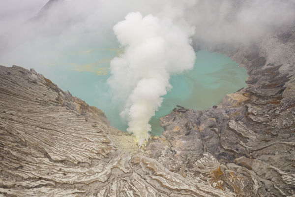 aerial view of gn merapi