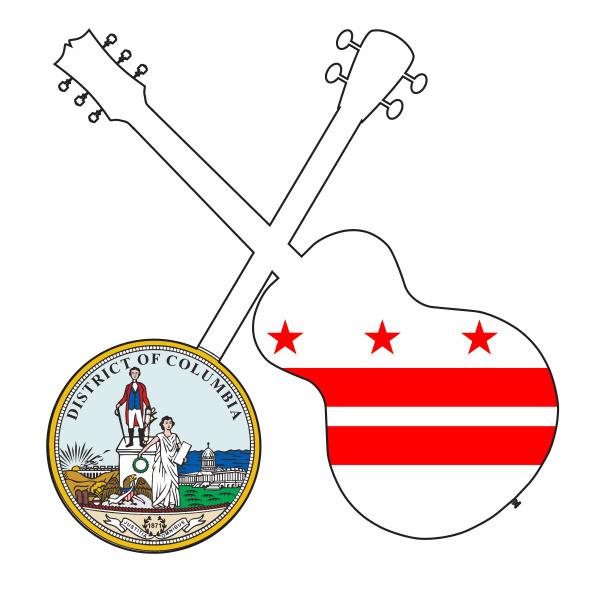 washington dc state flag banjo and