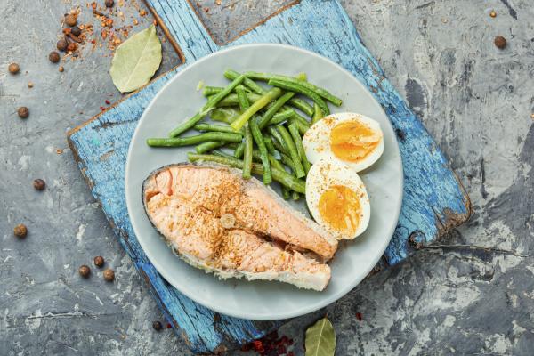 tasty salmon broth