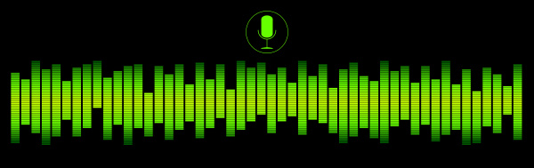 green voice recognition with a microphone