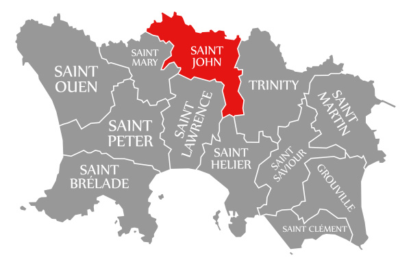 saint john red highlighted in map