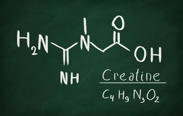 chemical formula of creatine on a