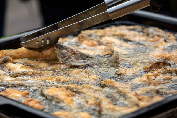 delicious carp fillets roasted in the