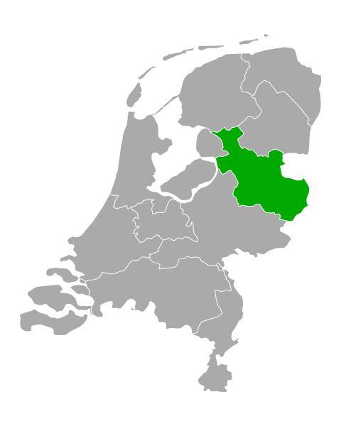 map of overijssel in netherlands