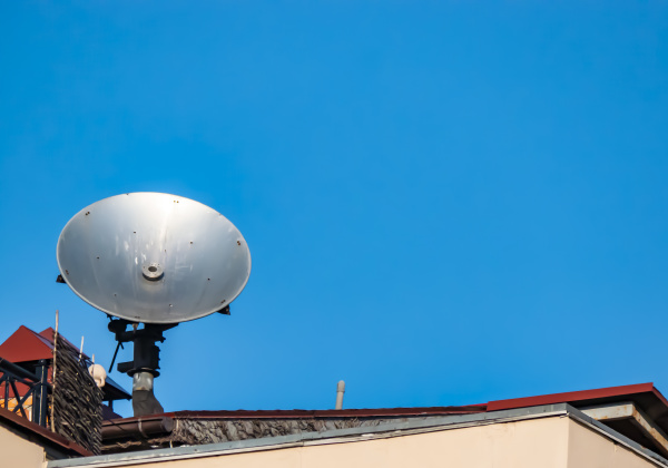 satellite dish on the roof of