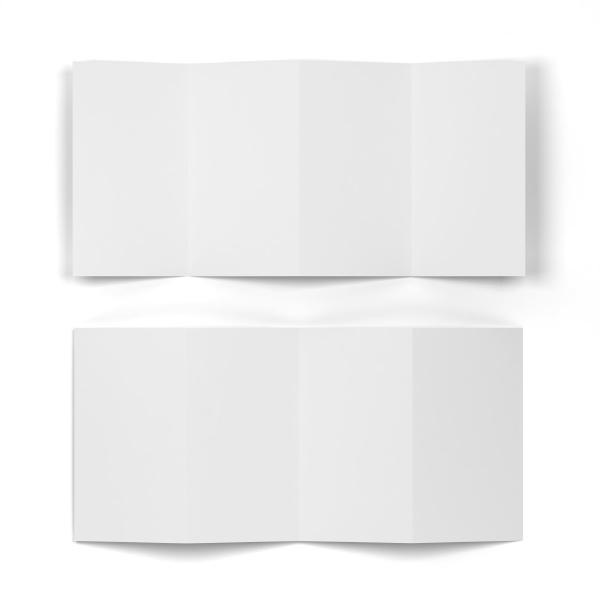 4 folded brochure mockup