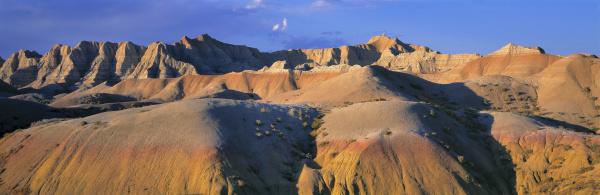 usa south dakota badlands np sunset