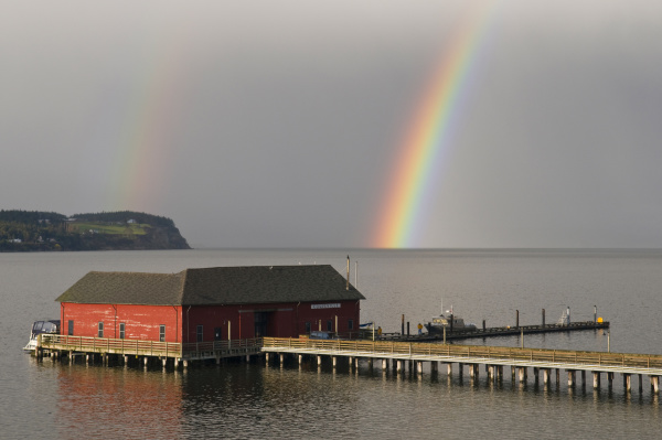 usa wa whidbey island vibrant rainbow