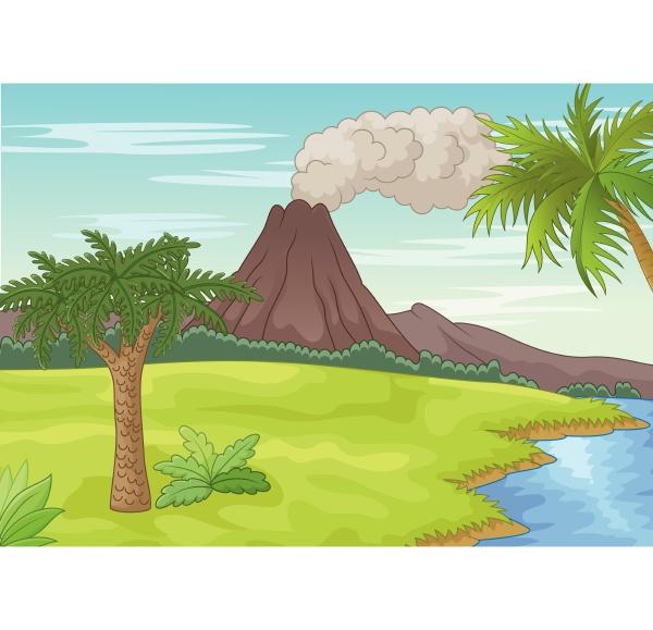 mountain island at sea