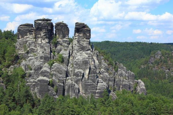 sandstone rock formation at bastei