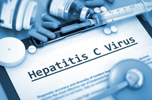 hepatitis c virus diagnosis medical concept