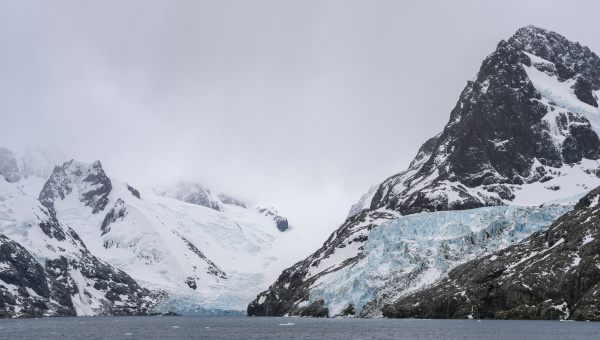 risting glacier at the end of